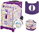 Zuca Sport Bag -Patchwork with Gift Lunchbox and Seat Cover (Purple Frame)