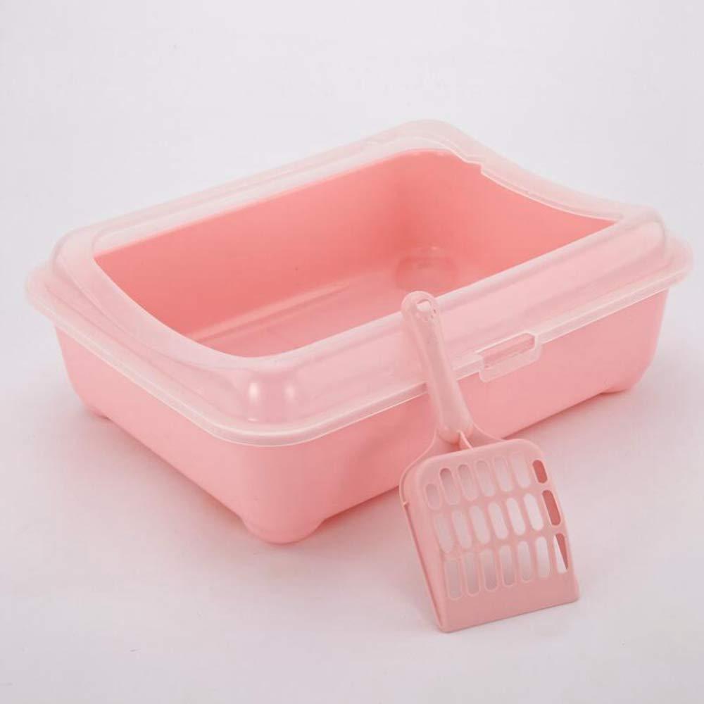Axiba Pet toilet Cat Sand Basin semi-closed plastic cat toilet send cat litter shovel