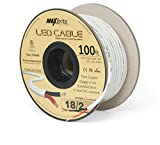 18AWG LED Cable/Speaker Wire 2 Conductor In-Wall Plenum Rated Jacketed, Low Voltage Wiring, UL Class 2 Certified - 100 ft spool