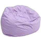 19'' Oversized Lavender Dot Bean Bag Chair (1 Chair) - FF-DG-BEAN-LARGE-DOT-PUR-GG