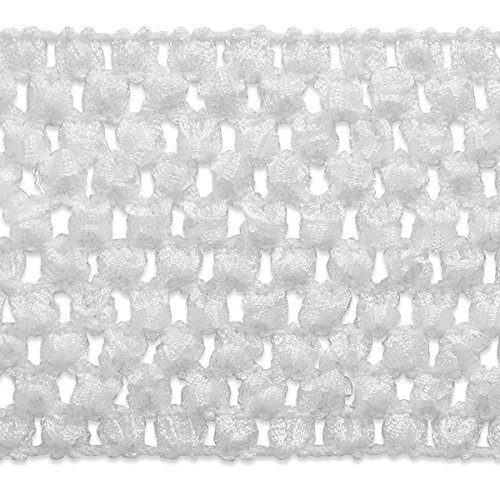 Expo International 2-3/4-Inch Crochet Stretch Trim Embellishment, 20-Yard, White by Expo International