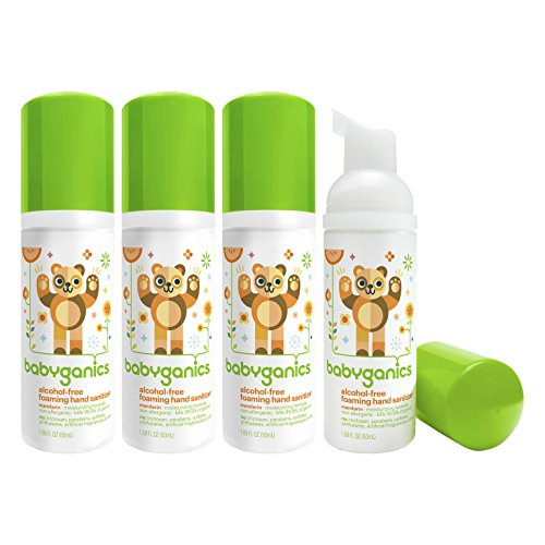 Babyganics Alcohol-free Foaming On-The-Go Hand Sanitizer Bun