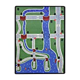 Joy Carpets Kid Essentials Active Play & Juvenile Creataville Rug, Multicolored, 7'8'' x 10'9''