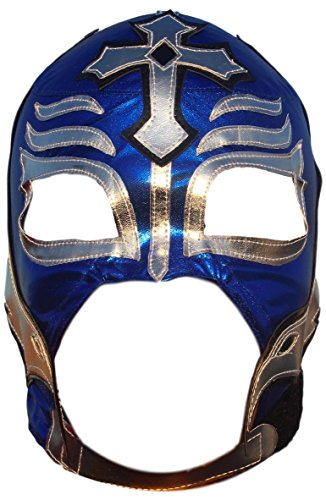 Rey Mysterio Costume Mens (Rey Mysterio Lycra Lucha Libre Luchador Wrestling Masks Adult Size Blue)