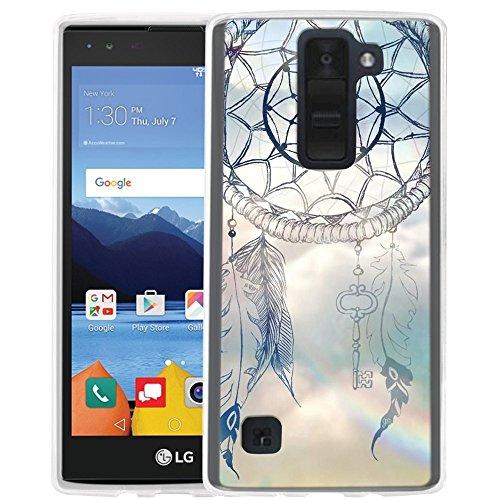 LG K8 V Case, LG K8V Case, Linkertech Air Hybrid Ultra Slim Shockproof Drop Protection Bumper Case Back Cover for LG K8 V (2016) VS500 (Verizon) (Wind Chime)