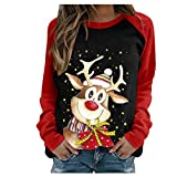 Hamleo Womens Christmas Sweatshirts, Long Sleeve