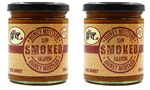 Slow Smoked Jalapeno Honey Mustard - Sauce, Dressing, Pretzel Dip - Hot & Spicy - 2 Pack by Just Enough Heat