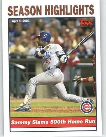 Amazoncom 2004 Topps Baseball Card 332 Sammy Sosa Hl