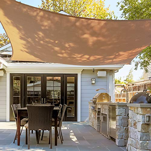 - Asani Rectangle Sun Shade Sail | UV Blocking Patio Cover, Outdoor Sunshade Canopy | Weather-Resistant Fabric with Metal Hardware | Covering for Deck, Pool, Garden, Porch, Backyard (10' x 13')