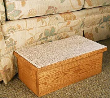 Pinnacle Solid Oak Dog Stairs with Carpet