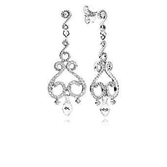 8bc8d5744 Amazon.com: Pandora Chandelier Droplets Silver Drop Earrings with ...