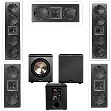 klipsch thx speakers. klipsch kl-6504-thx 5.1 in-wall lcr speaker system-free pl thx speakers :