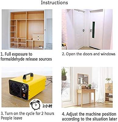 Luciyu Generador De Ozono,esterilizador De Aire De Máquina De Formaldehyde para Oficinas Domésticas&Dormitorio Rid De Virus Moho Humo Amarillo A 33x22x21.5cm(13x9x8inch): Amazon.es: Hogar