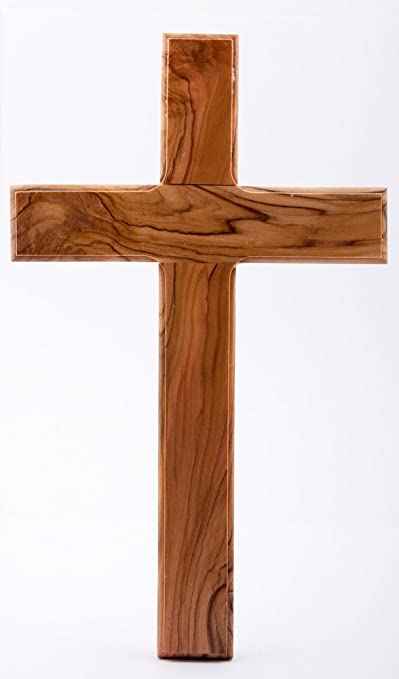Wooden Cross. Plain wood cross. Holy Land wood cross.Olive Wood Cross. by  Wood Cross: Amazon.co.uk: Kitchen & Home