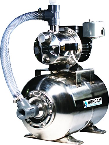 (BURCAM 506547SS 3/4 HP Stainless Steel Shallow Well Jet Pump System)