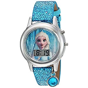 Frozen Girls' Quartz Watch with Plastic Strap, Turquoise, 16 (Model: FZN4508AZ)