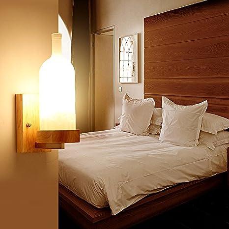 BESPD Creativo japonés minimalista nórdico madera maciza Led Apliques chino moderno salón pasillos Pasillo Dormitorio Lámparas