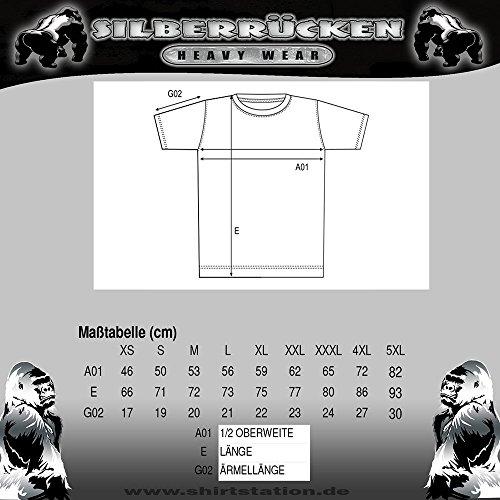 GB45 Gorilla Biker Road Stop Herren T-Shirt Farbe Schwarz, Größe L