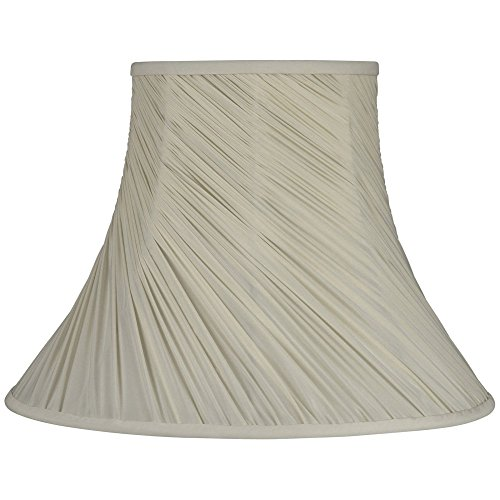 Laura Ashley Chelsea Cream Swirled Pleat Bell Lamp Shade