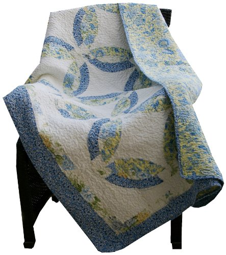 [Greenland Home Francesca Throw] (Wedding Ring Quilt Throw)