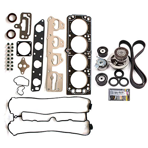 SCITOO Engine Timing Belt and Head Gasket Kit Fits 2004-2008 Suzuki Forenza 2.0L 1998CC l4 Gas DOHC Naturally -