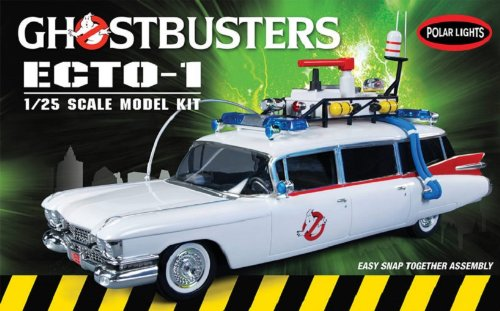 Polar Lights Ghostbusters Ecto-1 Snap Together Model Kit - Decals Model Kits