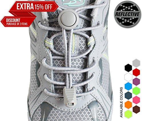 StoutGears Reflective Shoelaces Lock System