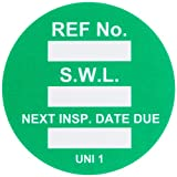 Brady UNI-UNI GREEN, Green Universal Tag INSERTS SAFE WORK LOAD 100/Package GRN (100 Tags)