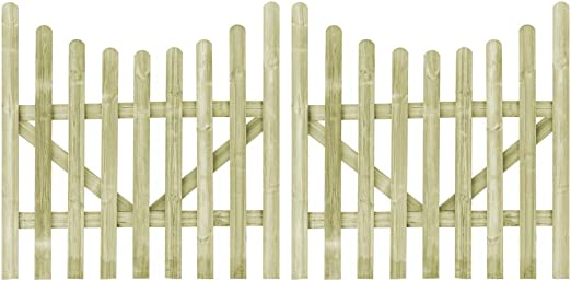 ghuanton Puertas de Valla Madera de Pino impregnada FSC 2 uds 150x150 cmBricolaje Vallas de jardín Puertas de jardín: Amazon.es: Hogar