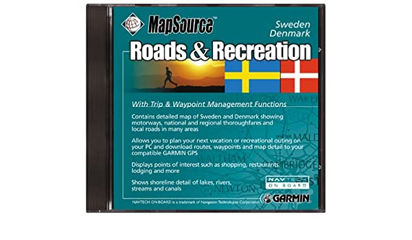 Amazoncom Garmin Roads And Recreation CD ROM Sweden And Denmark - Sweden map garmin