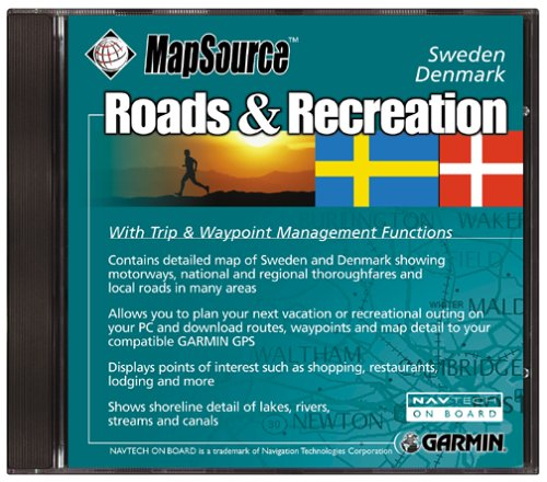 Amazoncom Garmin Roads And Recreation CD ROM Sweden And Denmark - Sweden map for garmin