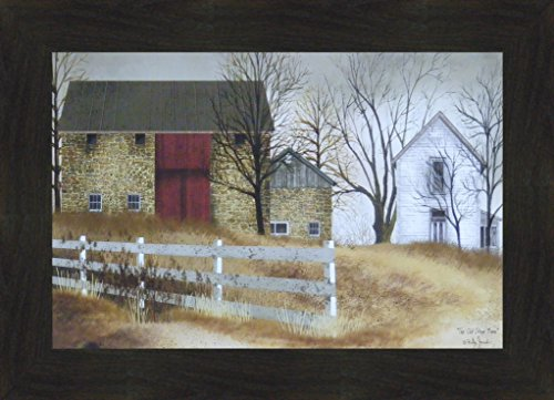 y Billy Jacobs 16x22 Country Farm House Primitive Folk Art Print Wall Décor Framed Picture (2