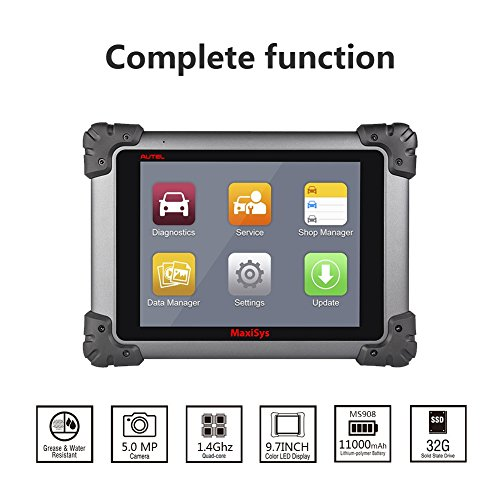 Autel Maxisys MS908 Automotive Diagnostic Scanner Tool and Analysis System with All Systems Diagnosis and Advanced Coding by Autel (Image #1)