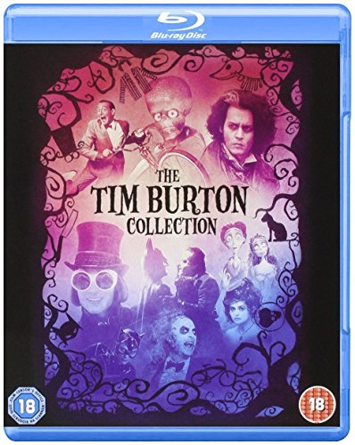 Tim Burton Collection - 8-Disc Box Set ( Batman / Batman Returns / Beetlejuice / Mars Attacks! / Pee-wee's Big Adventure / Charlie and the Chocolate Fact [ Blu-Ray, Reg.A/B/C Import - United Kingdom ]