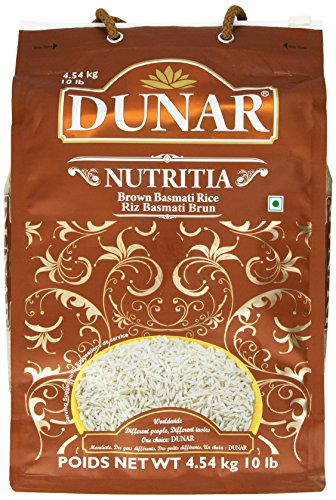 Dunar Nutritia Brown Basmati Rice, Himalayan, 10 Pound by Dunar