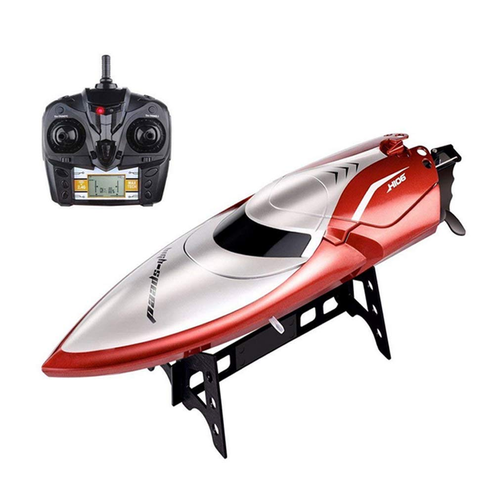 RC Boat Pool Toy, 25 KM/H High Speed Remote Control Boat Capsize Recovery Fast RC Racing Boats Kids Adults Fishing