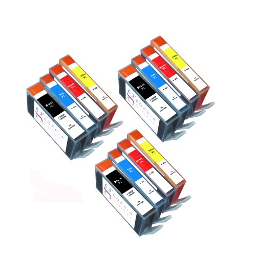Sophia Global Compatible Ink Cartridge Replacement for HP 564XL (3 Black, 3 Cyan, 3 Magenta, 3 Yellow)