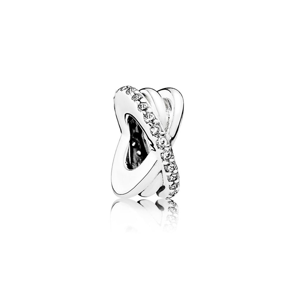 00c150763 Amazon.com: PANDORA Galaxy Spacer Charm, Sterling Silver, Clear Cubic  Zirconia, One Size: Jewelry
