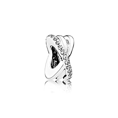94eead229 Amazon.com: PANDORA Galaxy Spacer Charm, Sterling Silver, Clear Cubic  Zirconia, One Size: Jewelry