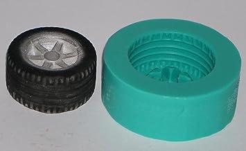 kbksiliconemoulds Sugarcraft de caucho de silicona Moldes Decoración de Pasteles resina Moldes Oficios formación de hielo grande Rueda: Amazon.es: Hogar
