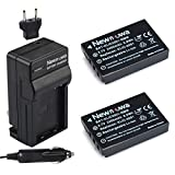 Newmowa KLIC-5001 Battery (2-Pack) and Charger kit for Kodak Easyshare P712 P850 Z730 DX6490 DX7440 DX7590 DX7630 Zoom Camera as Sanyo DB-L50