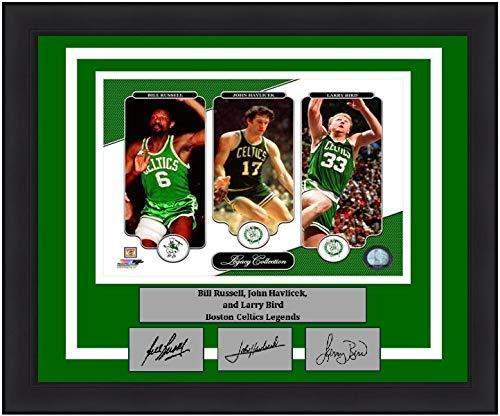 Bill Russell, John Havlicek, Larry Bird Celtics 8