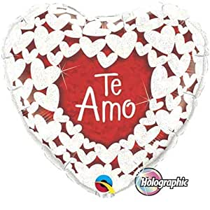 "Amazon.com: 18"" Te Amo Brillo Corazones Mylar Foil Balloon"