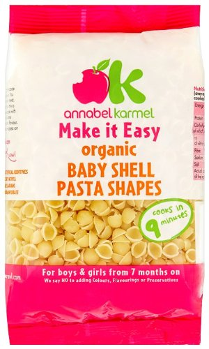 Annabel Karmel - 7 Months - Organic Baby Shell Pasta Shapes - 250g (Case of 8) 681575