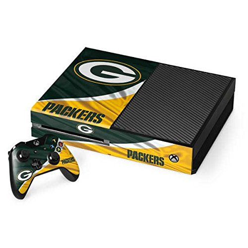 Skinit NFL Green Bay Packers Xbox One Console and Controller Bundle Skin - Green Bay Packers Design - Ultra Thin, Lightweight Vinyl Decal Protection