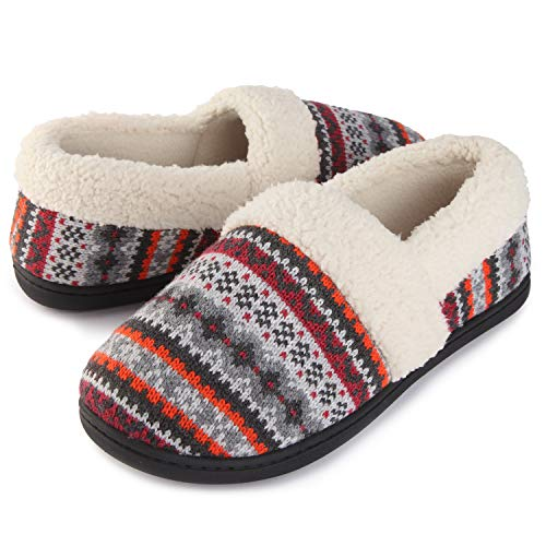 (RockDove Women's Nordic Winter Moc Slipper (7 B(M) US, Maple))