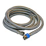 LASCO 10-0996 96-Inch Water Supply Line, Braided Stainless Steel, 3/8-Inch Female Compression X 3/8-Inch Female Compression