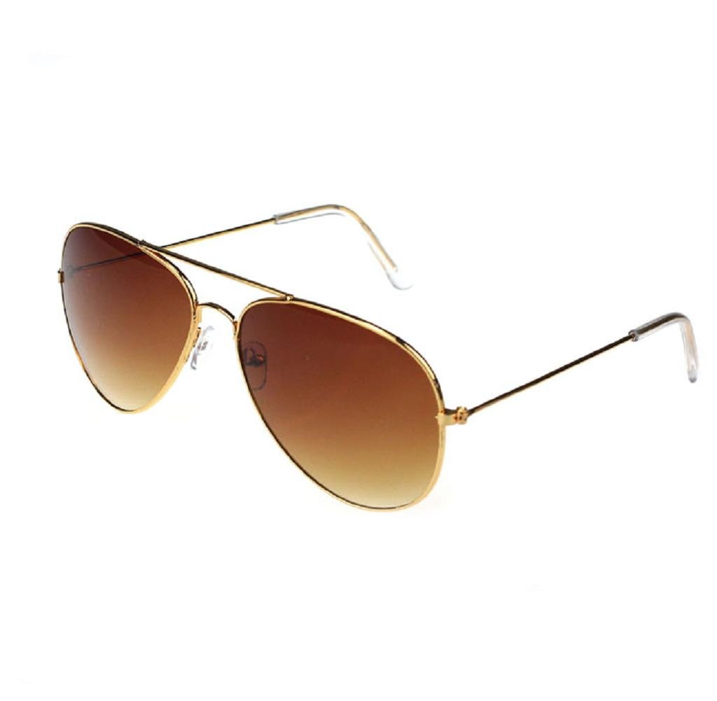 Sunglass,Tosangn Metal Frame As Poliet Sunglass (Tea-Gold)