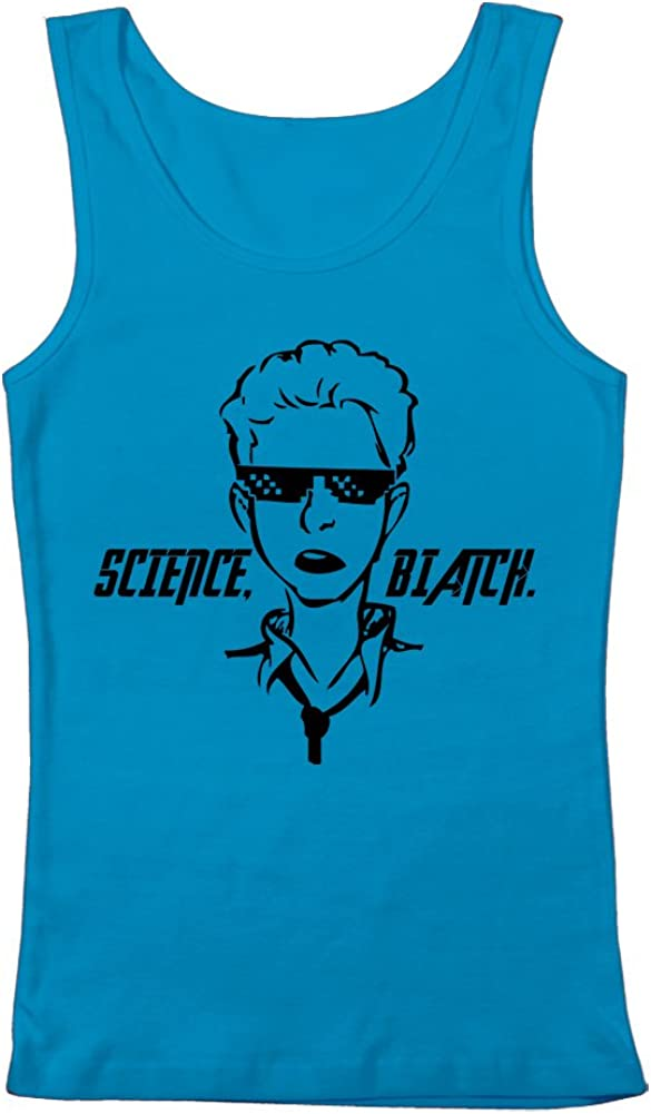 GEEK TEEZ Science Womens Tank Top Biatch