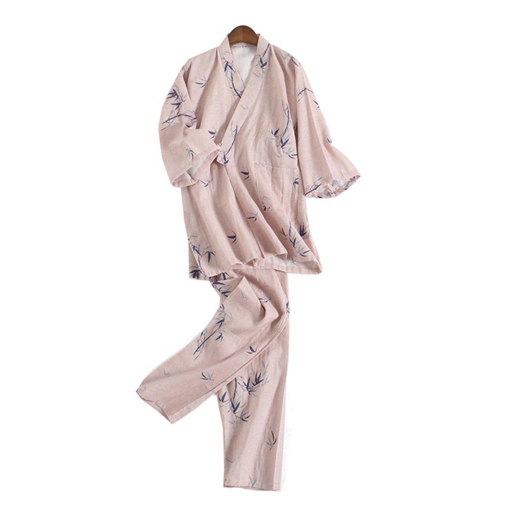 Batas Estilo japon/és Kimono Pijama Traje Bata Conjunto para Unisex Talla L